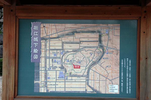 松江城の下絵図