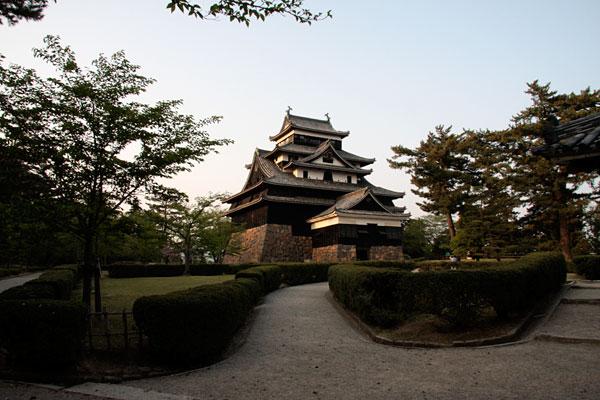 松江城の本丸に突入しました!