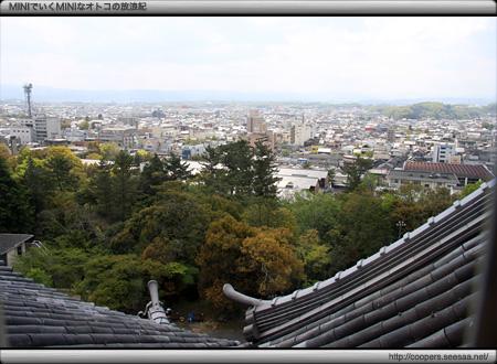 伊賀上野城の天守から見る上野市街