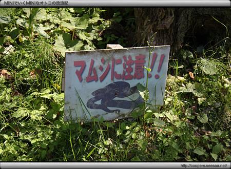 マムシ注意! in 石見銀山遊歩道