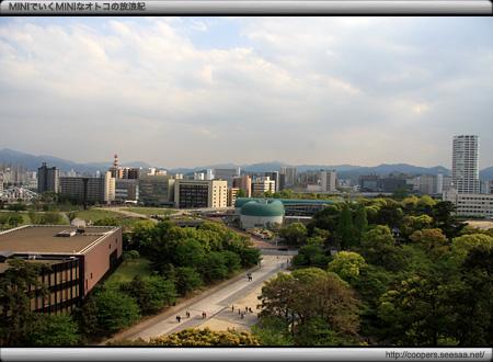 小倉城の天守から南方面を望む