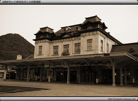 セピアな門司港駅