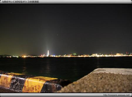 門司港から海峡ゆめタワーの夜景