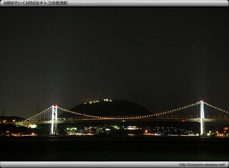 門司港から関門海峡の夜景