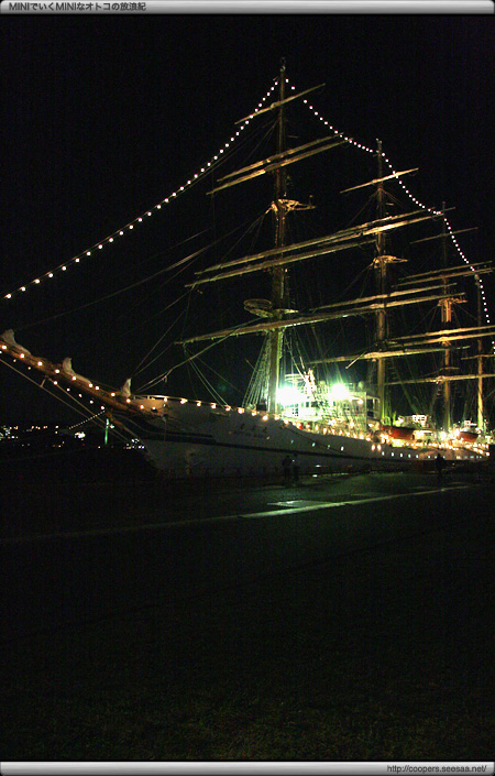 門司港に停泊中の観光客船