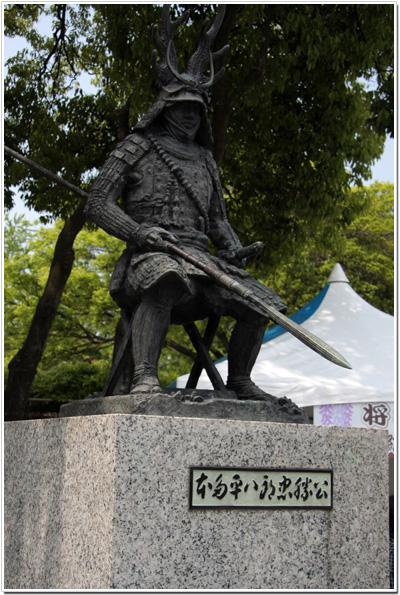 本多平八郎忠勝の像