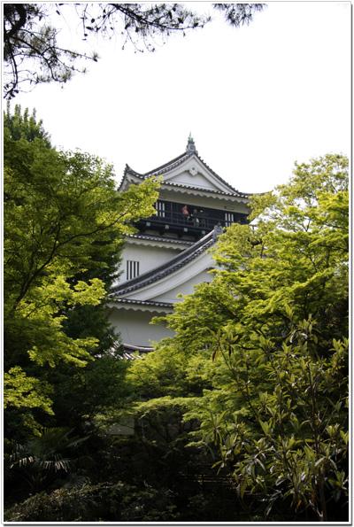 岡崎公園から見た岡崎城
