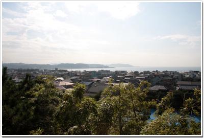 長谷寺〜見晴台からみた由比ケ浜