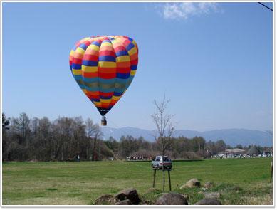 気球で青空へ
