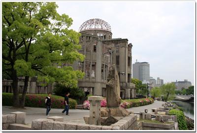 原爆ドームを北側から