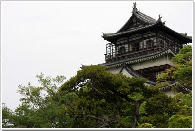 広島城天守閣の展望台