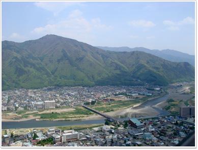 荒砥城・櫓から見た千曲川
