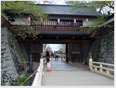 高島城(冠木門と冠木橋)