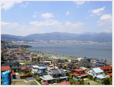 小坂観音院から見た諏訪湖