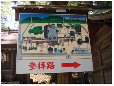諏訪大社本宮の案内図