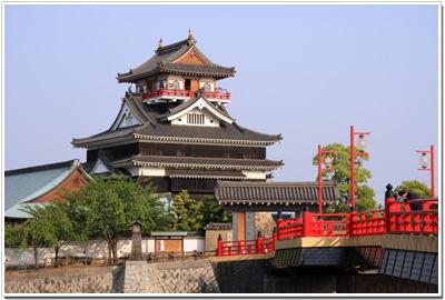 清洲城と大手橋