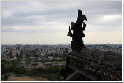 姫路城〜天守閣から見る姫路市街