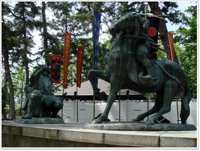 武田信玄と上杉謙信の一騎打ち