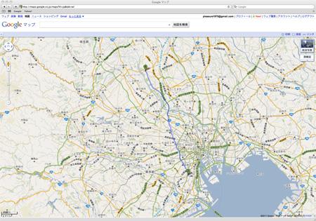 Google Mapで最短ルートを検索