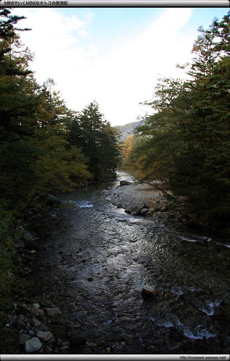 田代橋上から眺める梓川の下流
