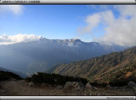 丸山からの眺望(笠ヶ岳方面)