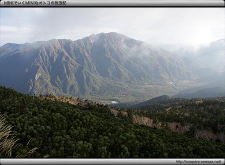 丸山からの眺望(上高地をのぞむ)
