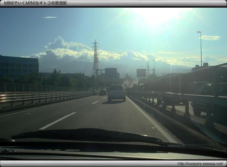 富士山に向かう途中は夏真っ盛り!