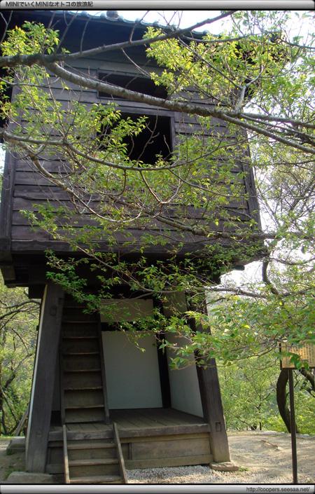 葉桜の高遠城址